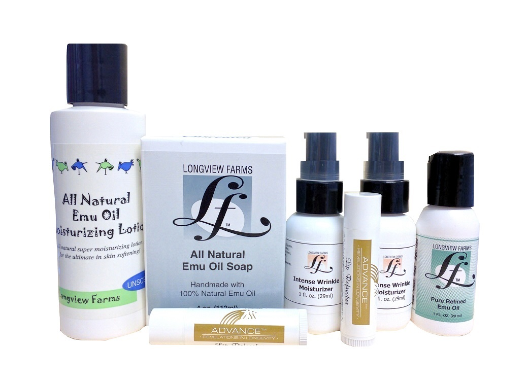 Emu oil skin care wrinkle products