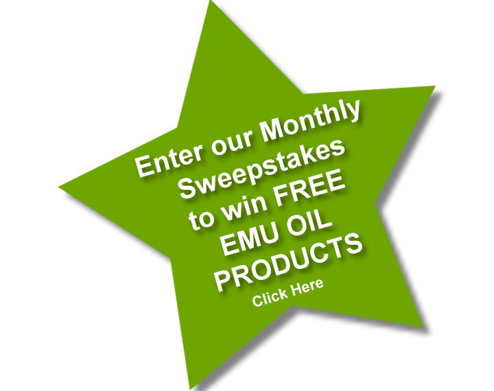 Sweepstakes contest for free emu oil products