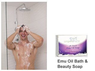 Skin soft soap bath and beauty with Emu oil