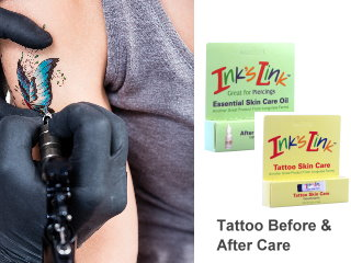 Tattoos and piercing creams oils and rubs