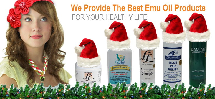 Christmas shopping and gifts of Emu oil products from LongviewFarms.com